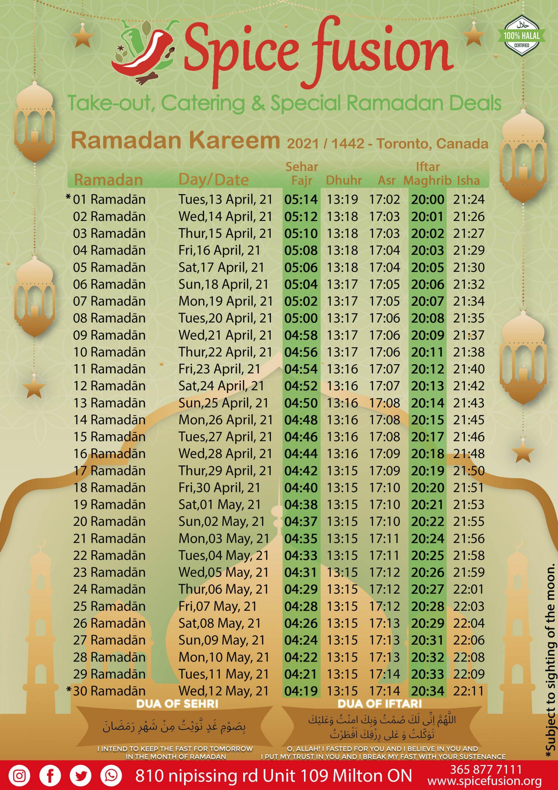 Ramadan Calender 2021 for FB